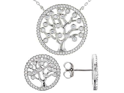 Photo of Bella Luce® 3.75ctw Rhodium Over Sterling Silver Necklace and Earrings