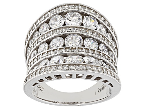 Photo of Bella Luce® 4.20ctw Rhodium Over Sterling Silver Ring - Size 6