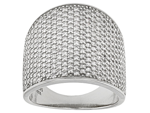 Photo of Bella Luce® 3.67ctw Rhodium Over Sterling Silver Ring - Size 5