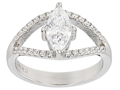 Photo of Bella Luce® 1.98ctw Rhodium Over Sterling Silver Ring - Size 10