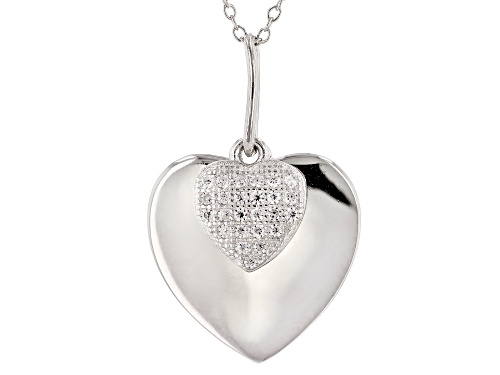 Photo of Bella Luce® 0.25ctw Rhodium Over Sterling Silver Pendant With Chain