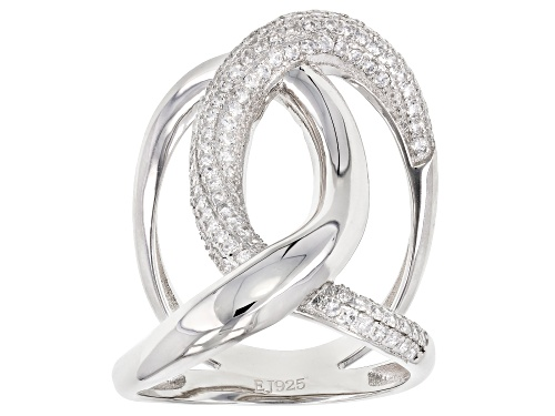 Photo of Bella Luce® 1.45ctw Rhodium Over Sterling Silver Ring - Size 6