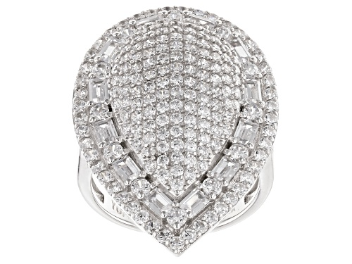 Bella Luce® 6.01ctw Rhodium Over Sterling Silver Ring - Size 5