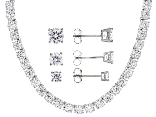 Photo of Bella Luce® 69.62ctw Rhodium Over Sterling Silver Necklace and Earrings Set (42.66ctw DEW)