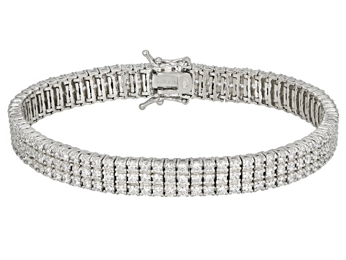 Photo of Bella Luce® 12.06ctw Rhodium Over Sterling Silver Bracelet - Size 8