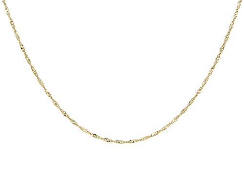 Photo of 14k Yellow Gold Polished Diamond Cut 1.0mm Singapore 24 Inch Chain Necklace
