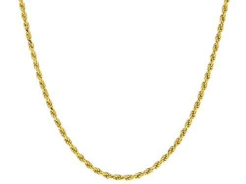 Photo of 18k Yellow Gold Over Sterling Silver Rope Chain Necklace - Size 24