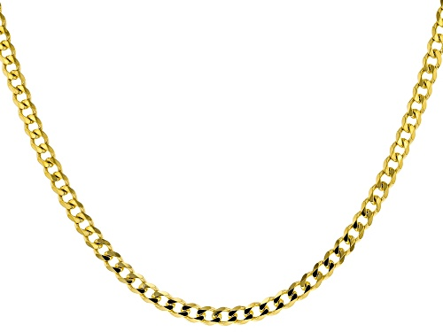 Photo of 18K yellow gold over sterling silver curb chain necklace - Size 24