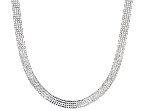 Photo of Sterling Silver 4.5MM Flat Venitian Box Chain Necklace