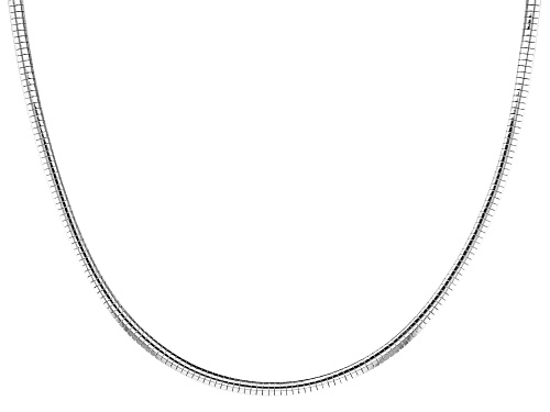 Photo of Sterling Silver 3.4MM Omega Necklace 20 Inch - Size 20