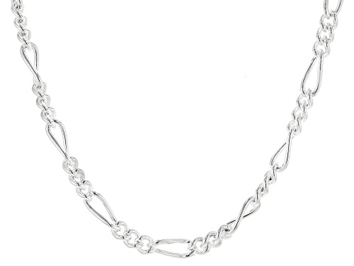 Photo of Sterling Silver 5.5MM Polished Figaro Chain Necklace 18 Inch - Size 18