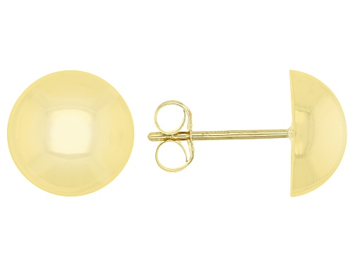 Photo of 14K Yellow Gold Polished Dome Button Earrings