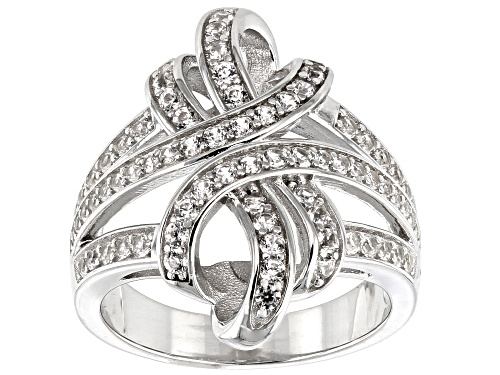 Photo of 1.25ctw Round White Zircon Rhodium Over Sterling Silver Ring - Size 7