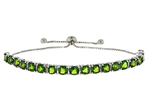 Photo of 10.70ctw Square Cushion Russian Chrome Diopside Sterling Silver Bolo Bracelet