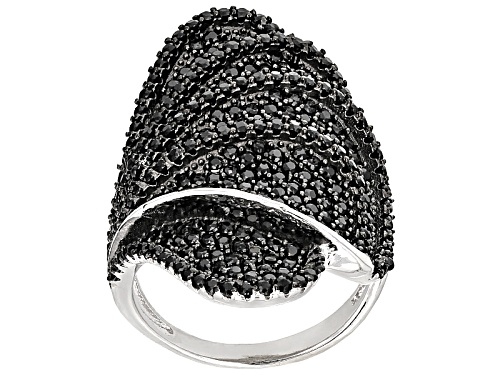 Photo of 3.05ctw Round Black Spinel Sterling Silver Ring - Size 5