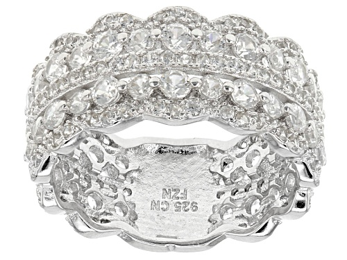 Photo of 3.07ctw Round White Zircon Sterling Silver Band Ring - Size 12