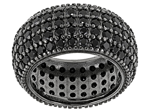 Photo of 5.25ctw Round Black Spinel Sterling Silver Band Ring - Size 6
