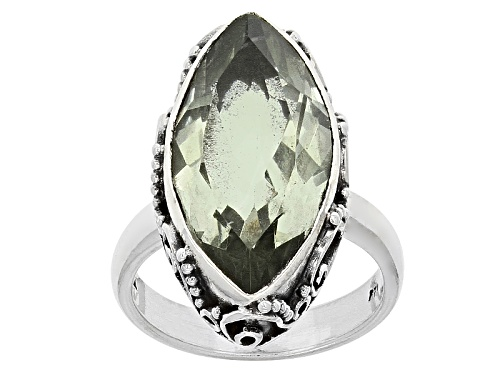 Photo of 6.00ct Marquise Prasiolite Sterling Silver Solitaire Ring - Size 5
