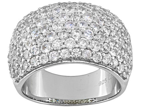 Photo of 4.50ctw Round White Zircon Sterling Silver Band Ring - Size 5