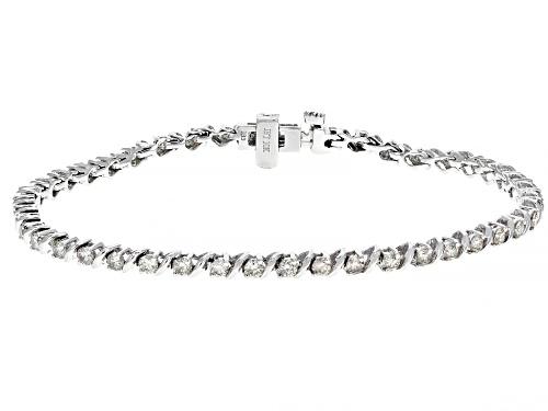 Photo of 2.00ctw Round White Diamond 10K White Gold Bracelet - Size 7