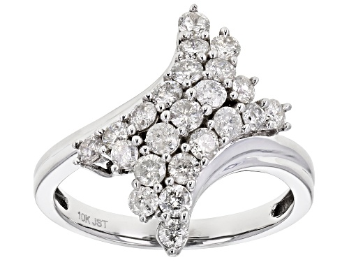 Photo of 1.00ctw Round White Diamond 10K White Gold Ring - Size 7