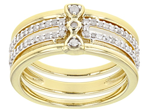 Photo of 0.25ctw Round White Diamond 14K Yellow Gold Over Sterling Silver Band Ring - Size 6