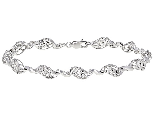 Photo of 0.50ctw Round White Diamond Rhodium Over Sterling Silver Tennis Bracelet - Size 7.5