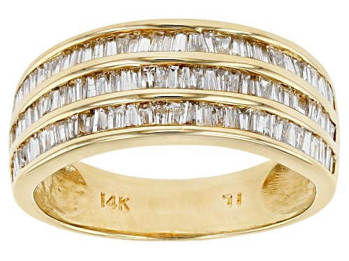 Photo of 1.00ctw Baguette White Diamond 14K Yellow Gold Band Ring - Size 7