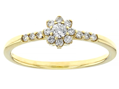 Photo of 0.25ctw Round White Diamond 10k Yellow Gold Promise Ring - Size 7