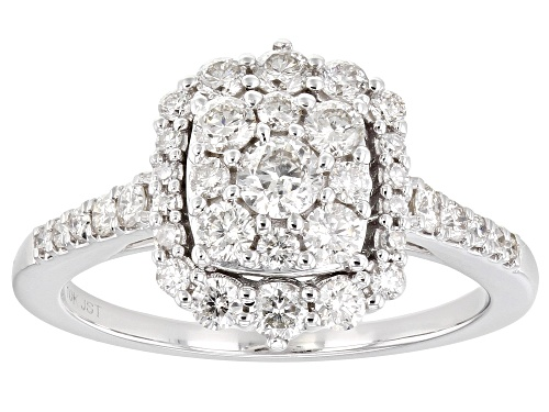 Photo of 1.00ctw Round White Diamond 10K White Gold Cluster Ring - Size 7