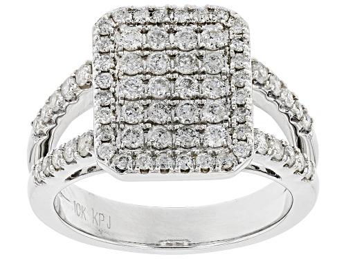 Photo of 1.00ctw Round White Diamond 10K White Gold Cluster Ring - Size 7