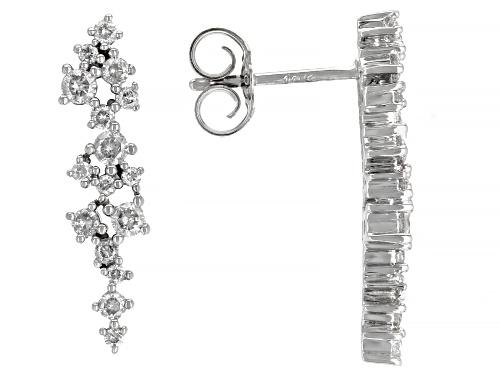 Photo of 0.48ctw Round White Diamond 10k White Gold Drop Earrings