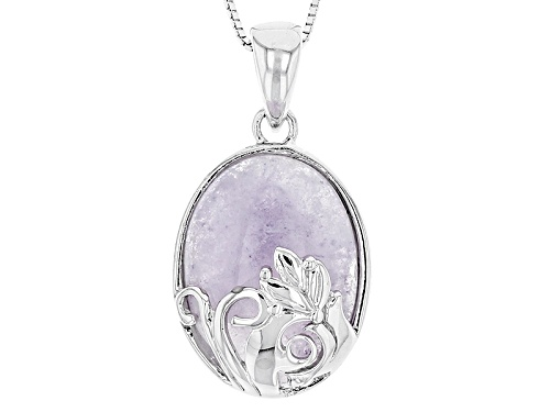 Photo of 20x15mm Oval Morado Opal Sterling Silver Solitaire Pendant With Chain