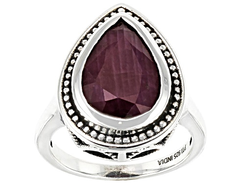 Photo of 4.00ct Red Ruby Sterling Silver Ring - Size 9