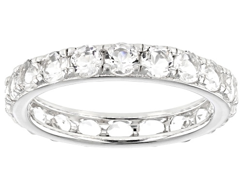 Photo of 1.95ctw Round White Crystal Quartz Rhodium Over Sterling Silver Eternity Band Ring - Size 6