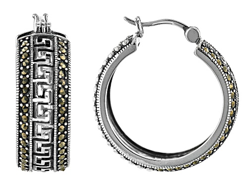 Photo of Marcasite Sterling Silver Hoop Earrings