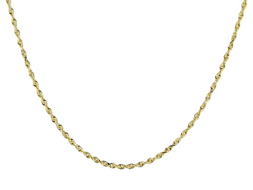 """Photo of 14KT Yellow Gold Solid Rope Necklace 24"""" - Size 24"""