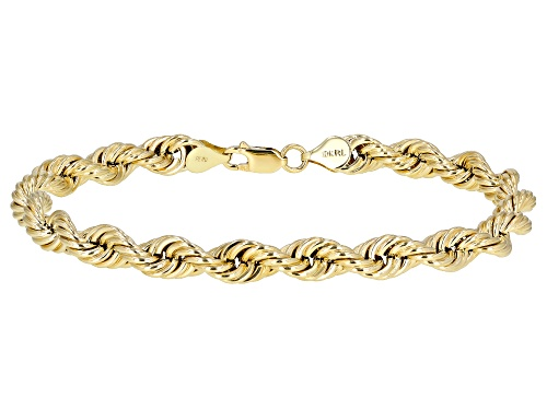 Photo of 10K Yellow Gold Hollow Rope Bracelet 9 Inches - Size 9