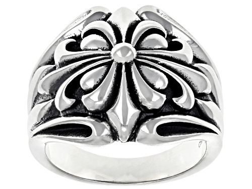 Photo of Sterling Silver Fleur De Lis Dome Ring - Size 7
