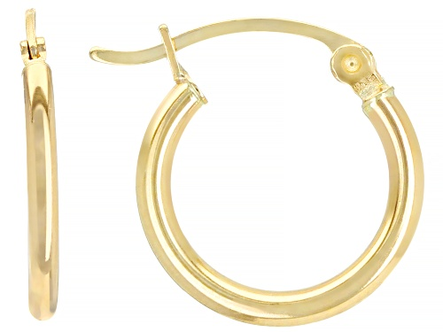 Photo of 14k Yellow Gold 15mm Hoop Earrings