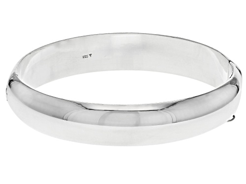 Sterling Silver 12MM 7 Inch Bangle Bracelet - Size 7