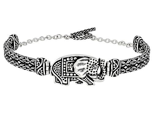 Photo of Sterling Silver Oxidized Elephant 7.5 Inch Bracelet - Size 7.5