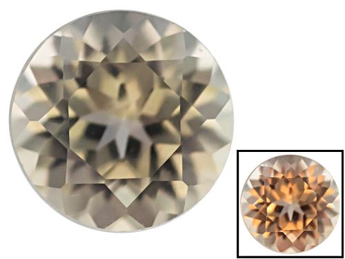 Photo of Color change diaspore min 0.35ct 4.5mm round