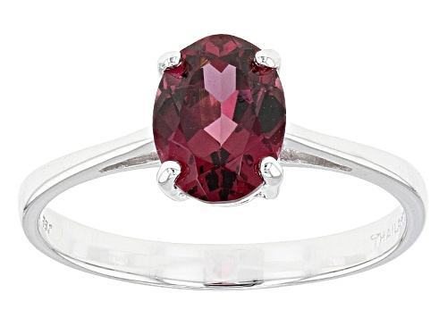 Photo of 1.28ct Oval Grape Color Garnet 10k White Gold Solitaire Ring - Size 8