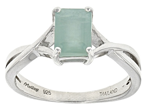 Photo of Exotic Jewelry Bazaar™ 1.09ct Emerald Cut Grandidierite Sterling Silver Solitaire Ring - Size 12
