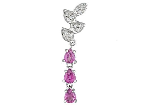 Photo of Exotic Jewelry Bazaar™ 1.21ctw Purple Ceylon Sapphire And White Zircon Sterling Silver Pendant