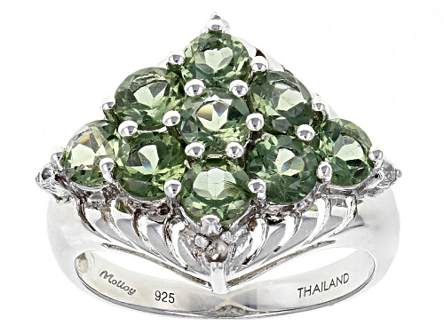 Photo of Exotic Jewelry Bazaar™ 2.43ctw Green Russian Apatite And .08ctw White Zircon Sterling Silver Ring - Size 8