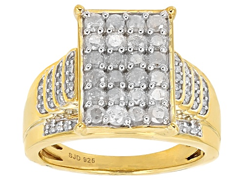 Photo of Engild™ 1.00ctw Round White Diamond 14k Yellow Gold Over Sterling Silver Ring - Size 6