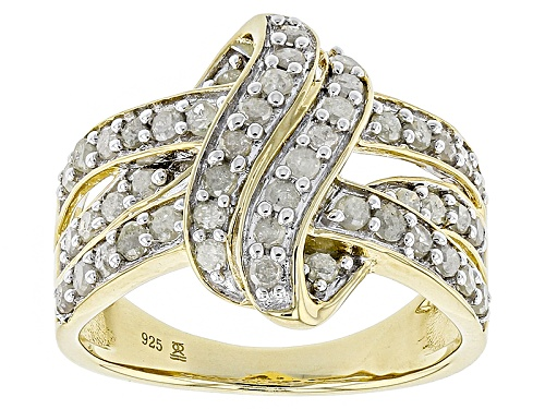 Photo of Engild™ 1.00ctw Round White Diamond 14k Yellow Gold Over Sterling Silver Ring - Size 8