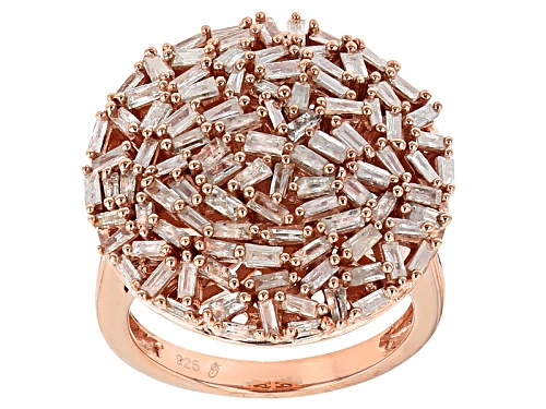 Photo of Engild™ 1.50ctw Baguette White Diamond 14k Rose Gold Over Sterling Silver Ring - Size 7